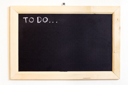 todo: Black board with to-do topic
