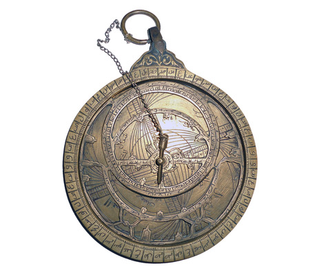 Arab astrolabe on a white background Banco de Imagens