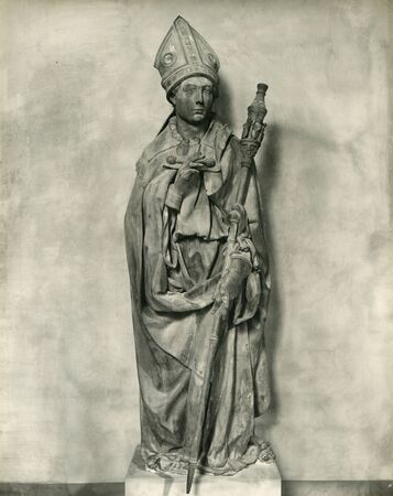 Vingate Photo 1880-1930 Museo dellOpera di Santa Croce. Donatello. St. Louis of Toulouse ,Florence Italy