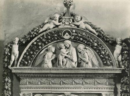 Vintage Photo 1880-1930 Giovanni della Robbia, washbasin, 1498. Florence Italy , Santa Maria Novella