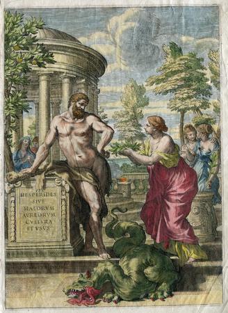 Ancient  Art  : Hercules and Monster by Giovanni Battista Ferari in 1646 Banco de Imagens