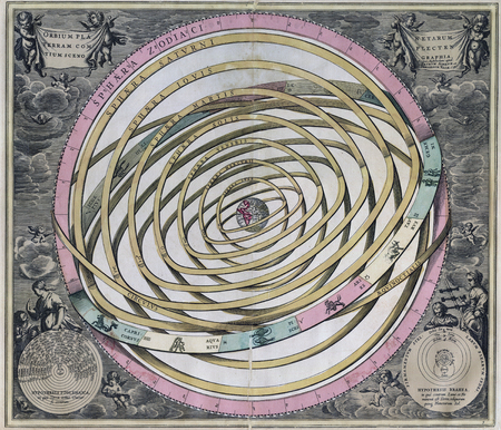 빈티지 올드 Orbium 천문관 - 지구는 우주의 중심입니다