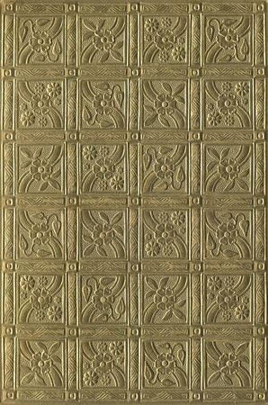 Old and ornate gold book cover