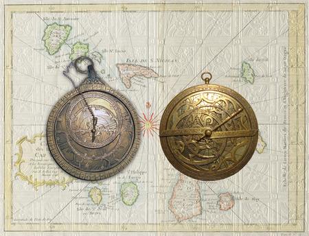 Arab and Medievel Astrolabes Banco de Imagens