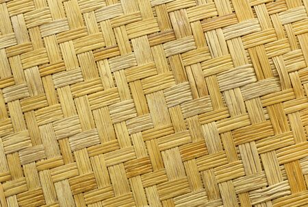basketry: close up of old basketry bamboo texture