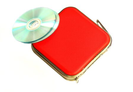 cd case: CD case isolated on white background Stock Photo