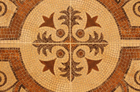 mosaic floor: Beautiful mosaic of different floor tiles