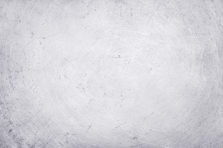 aluminium texture background, scratches on stainless steel. Stock Photo