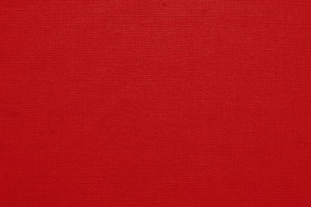 Red cotton fabric texture background, seamless pattern of natural textile. Stock Photo