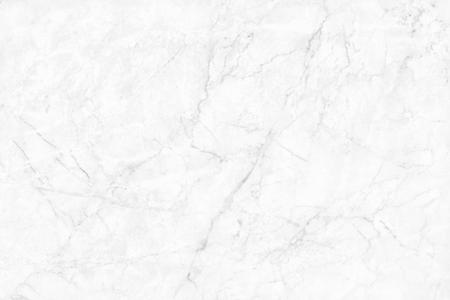 Texture in marmo bianco ad alta risoluzione per lo sfondo e il design del bancone in ceramica lussuoso, vista dall'alto di piastrelle naturali in pietra con motivo senza cuciture.