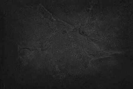 Dark gray black slate natural pattern for background and design. Black stone wall. Stock Photo - 124553511