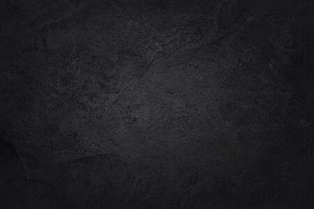 Donkergrijze zwarte leisteen textuur met hoge resolutie, achtergrond van natuurlijke zwarte stenen muur.