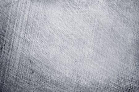 Aluminium-Metall-Textur-Hintergrund, Kratzer auf Edelstahl.