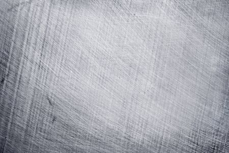 sfondo texture metallo alluminio, graffi su acciaio inossidabile.