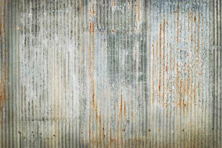 Alter Zinkwandbeschaffenheitshintergrund, rostig auf verzinktem Blech.