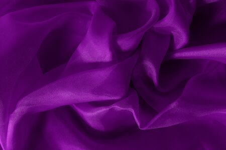 Dark purple fabric cloth texture for background and design art work, beautiful crumpled pattern of silk or linen. Stok Fotoğraf