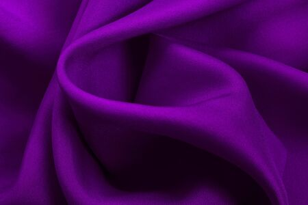 Purple fabric cloth texture for background and design art work, beautiful crumpled pattern of silk or linen. Stok Fotoğraf