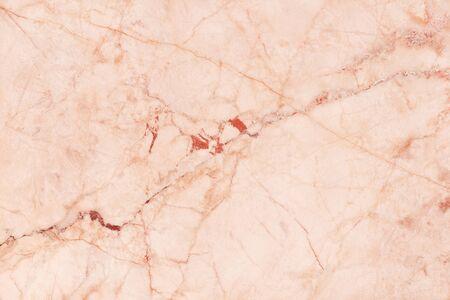 Blick von oben auf den roségoldenen Marmortexturhintergrund, Naturfliesensteinboden mit nahtlosem Glitzermuster für den Innenbereich und die Designkeramiktheke.