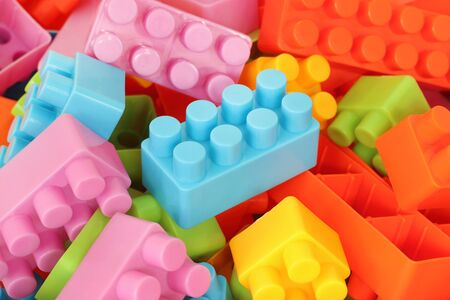 Toys building blocks, colorful plastic constructor for children.