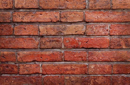 Dark red grunge brick wall texture background with old dirty and vintage style pattern