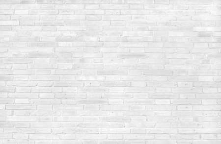 White grey brick wall texture with vintage style pattern for background and desing art work.