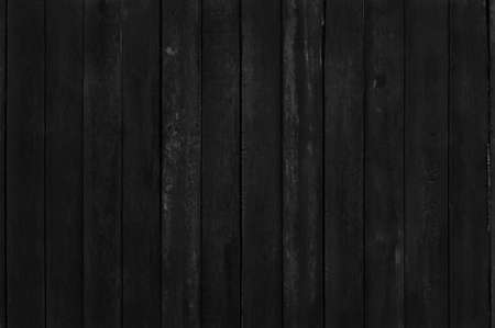Black wooden plank wall background, texture of dark bark wood with old natural pattern for vintage style design art work.