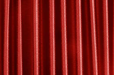 Luxury dark red silk curtain texture for background and design art work. Imagens