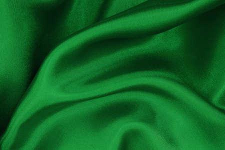 Dark green fabric cloth texture for background and design art work, beautiful crumpled pattern of silk or linen. Reklamní fotografie