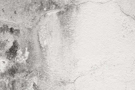 White grey old wall texture with cracked and peeled in vintage style for background and design art work.