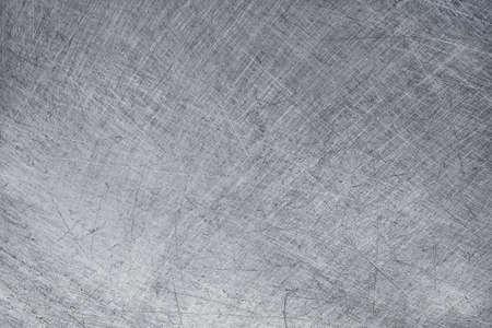 aluminium texture background, scratches on stainless steel. 免版税图像