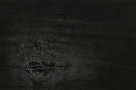 Black wooden wall background, texture of dark bark wood with old natural pattern for design art work, top view of grain timber. 免版税图像