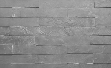 Light grey slate texture background with high resolution, pattern of stone brick wall for design art work. 免版税图像
