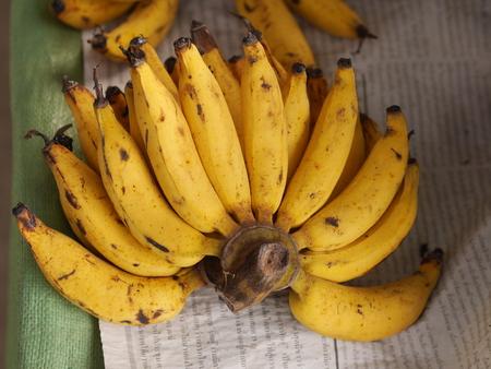 Banana on the table Stock Photo