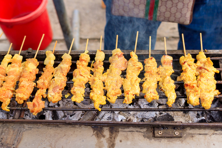 grill: Pork satay grill