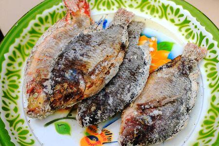 Tilapia baked salt