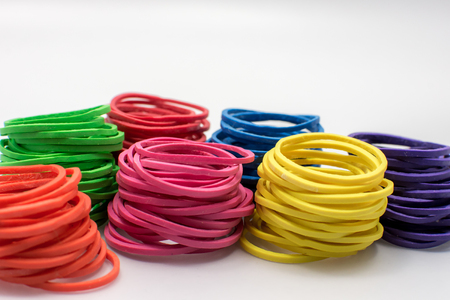 group of colourful ball: Rubber band