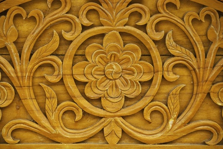wood carvings: detail of carved wood decorative