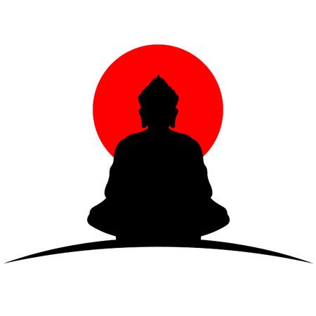 shrine: Buddha japan icon Illustration