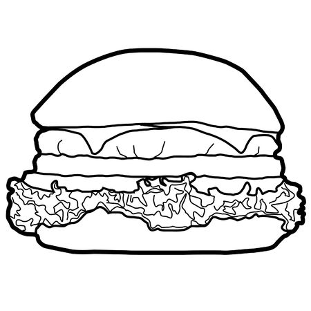Hamburger is a popular Western food that is easily eaten, delicious, popular in the world and there are everywhere in fast food meal