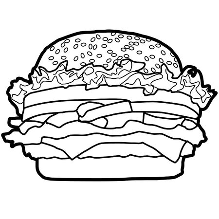 Hamburger is a popular Western food that is easily eaten, delicious, popular in the world and there are everywhere in fast-food meal