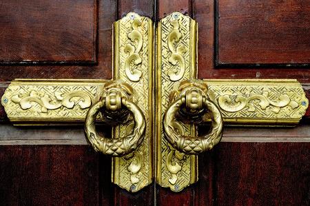 Door Antique Gold vintage Stock Photo