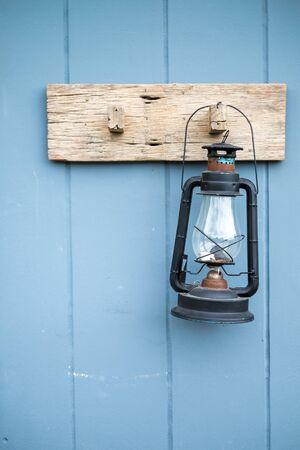 kerosene: old kerosene lamp hanging
