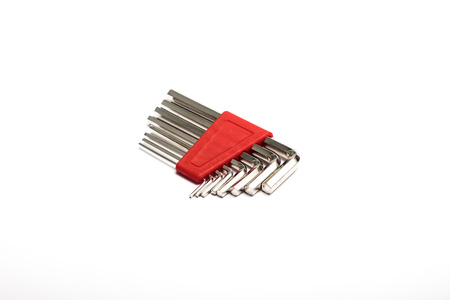 hex key: hex key wrench isolated on white background