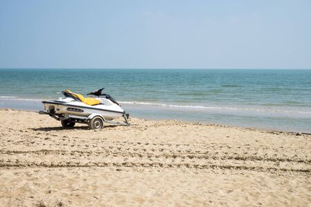 jetski: Jetski on the beach