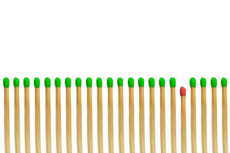 Red matchstick loser concept isolated on white background Stock Photo - 15954284