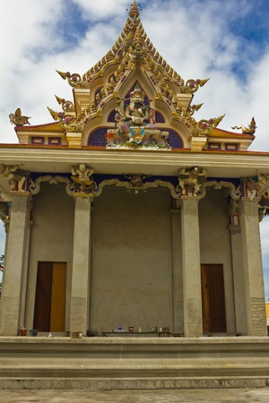 unfinished Thai temple, Pariwart temple, Bangkok, Thailand photo