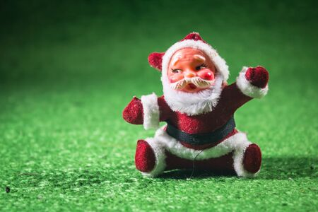 Santa Claus green background. Stock Photo - 18558098