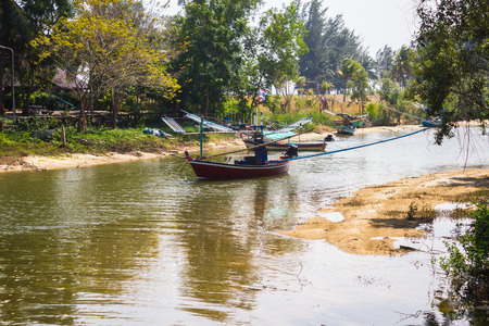 fisheries: Rivers dry. Fisheries in rural areas of Thailand. Stock Photo