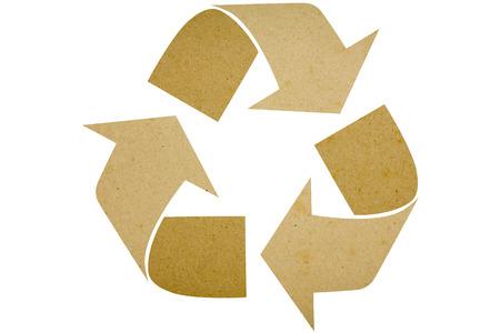 recycle arrow on white photo