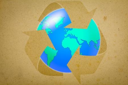 recycle arrow on earth photo